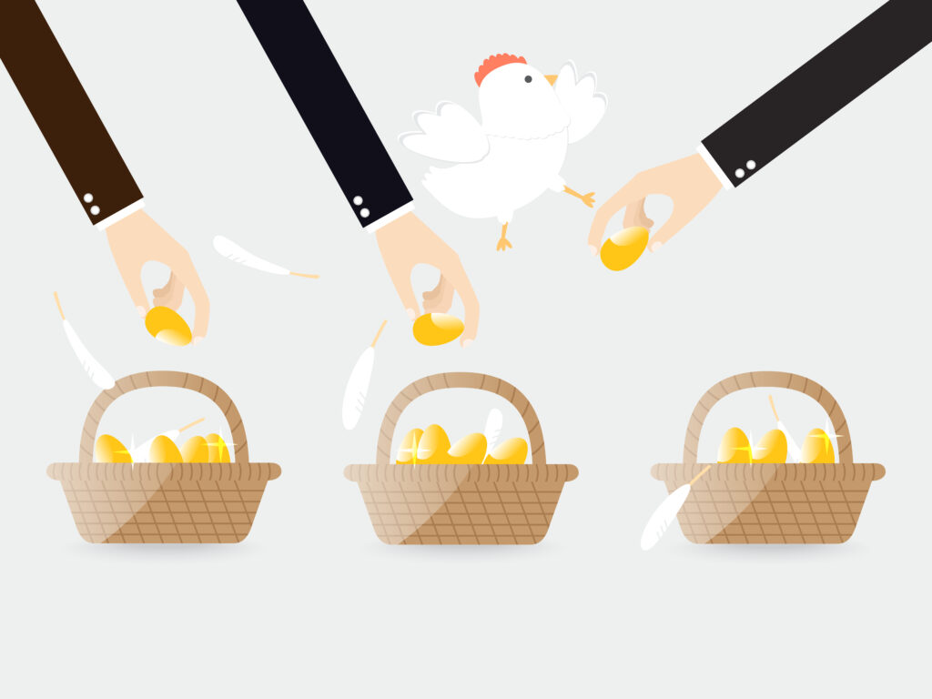 すべての卵をひとつのカゴに盛るな
