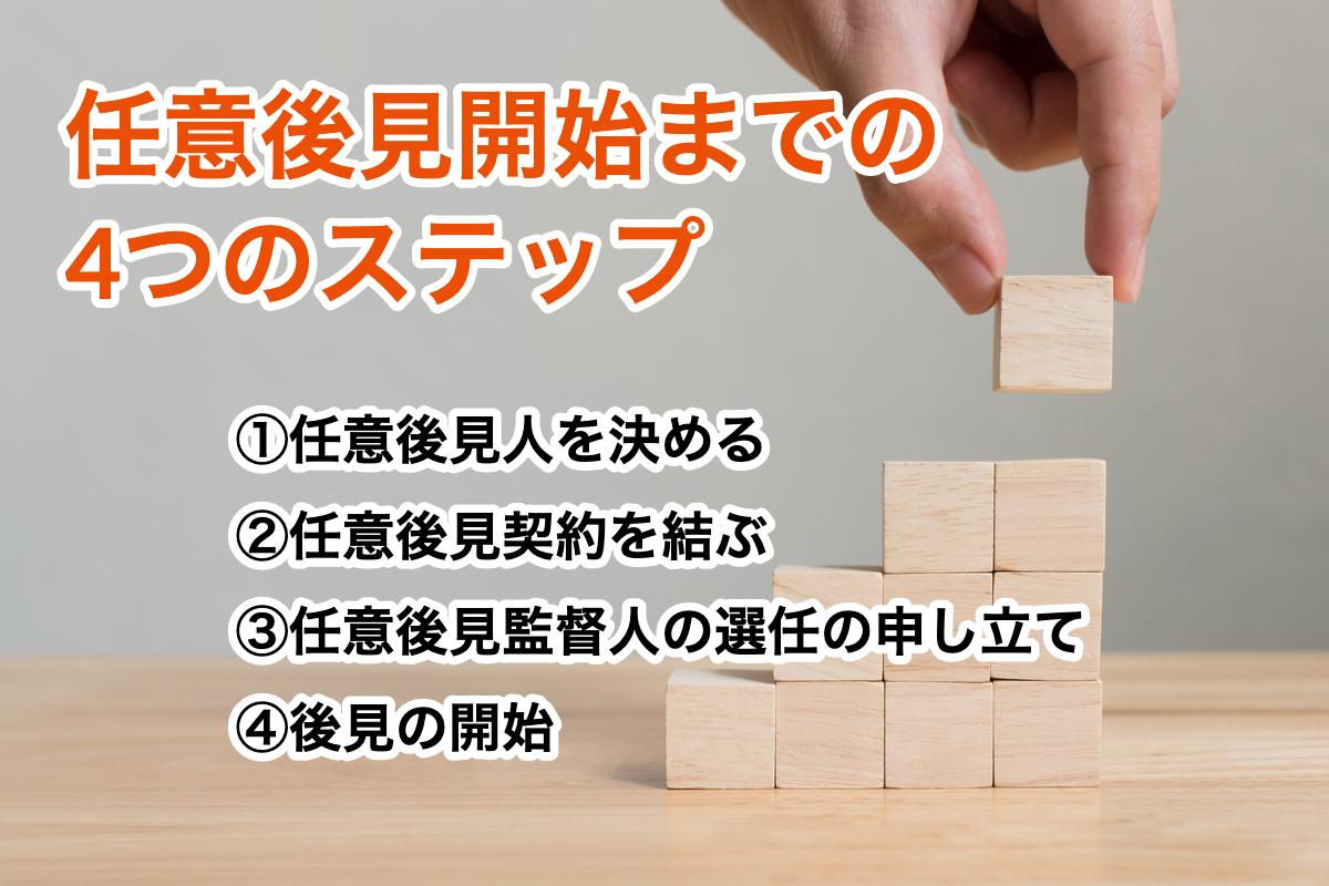 任意後見制度開始までの4つのステップ