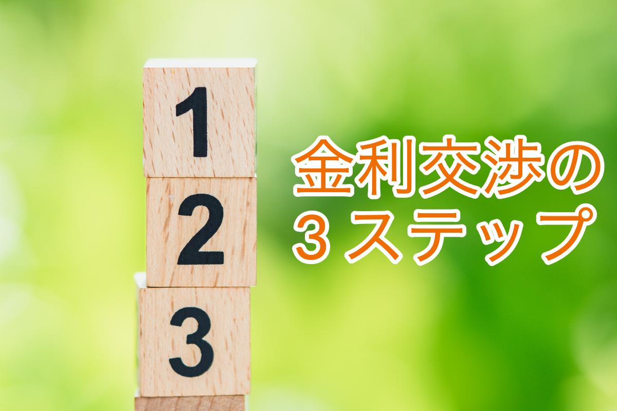 金利交渉の3ステップ